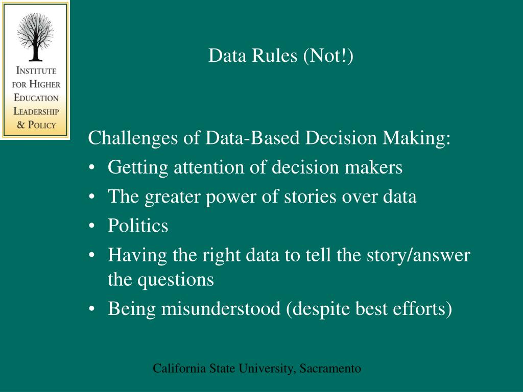 Data Rules (Not!)