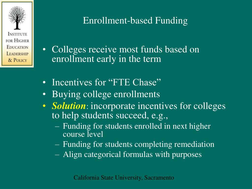 Enrollment-based Funding