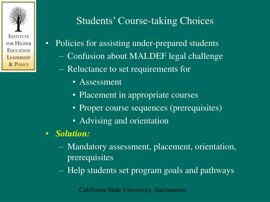 Students' Course-taking Choices