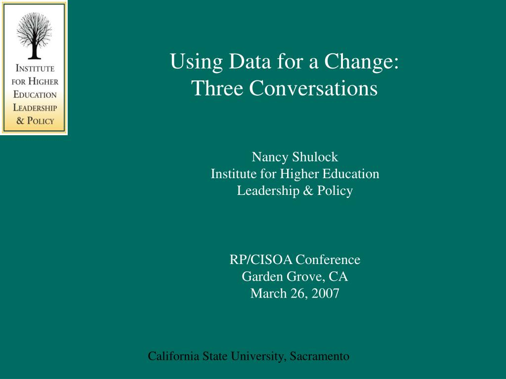 using data for a change three conversations l.