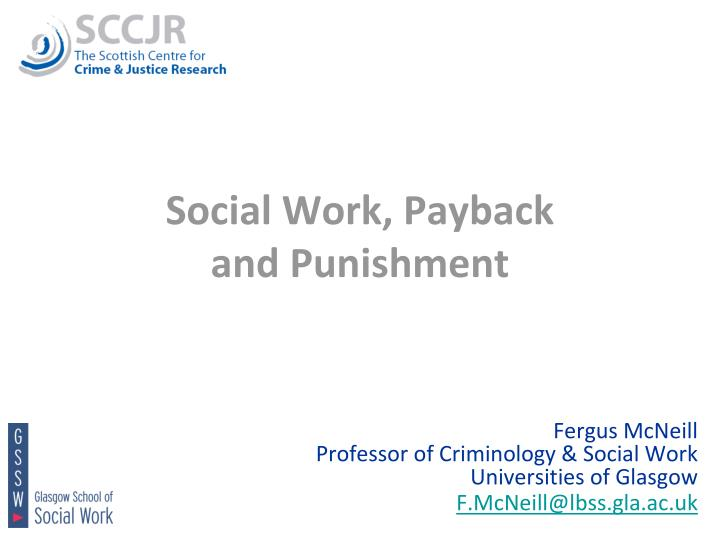 social work payback and punishment n.