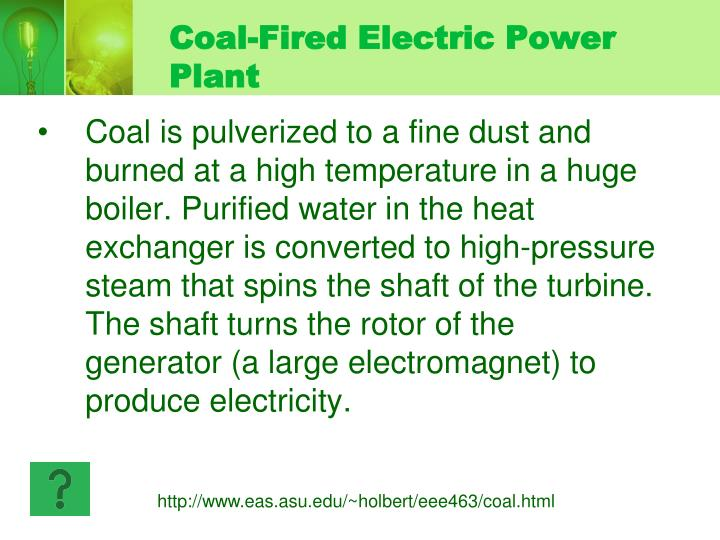 Coal-Fired Electric Power Plant