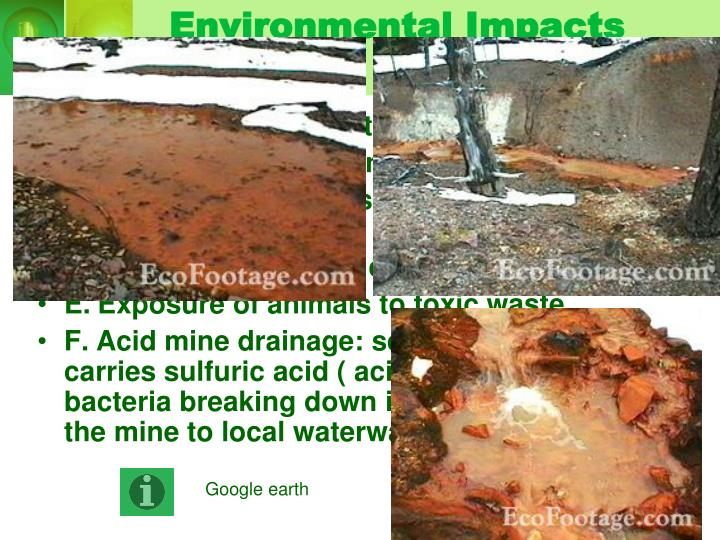 Environmental Impacts of Mineral Resources
