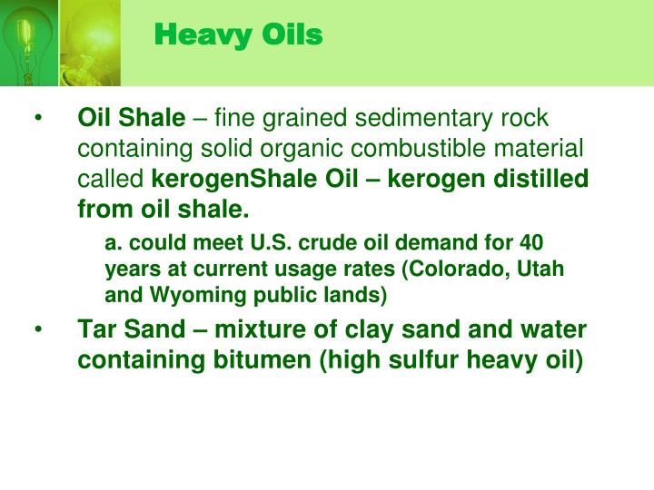 Heavy Oils