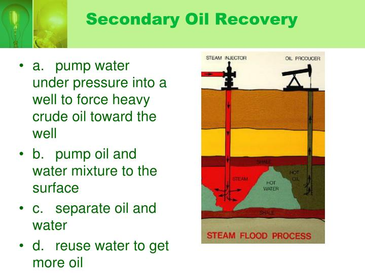 Secondary Oil Recovery