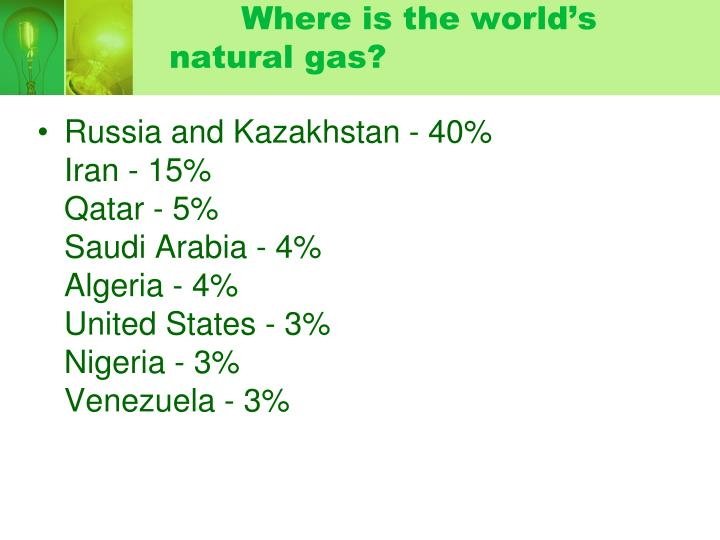 Where is the world's natural gas?