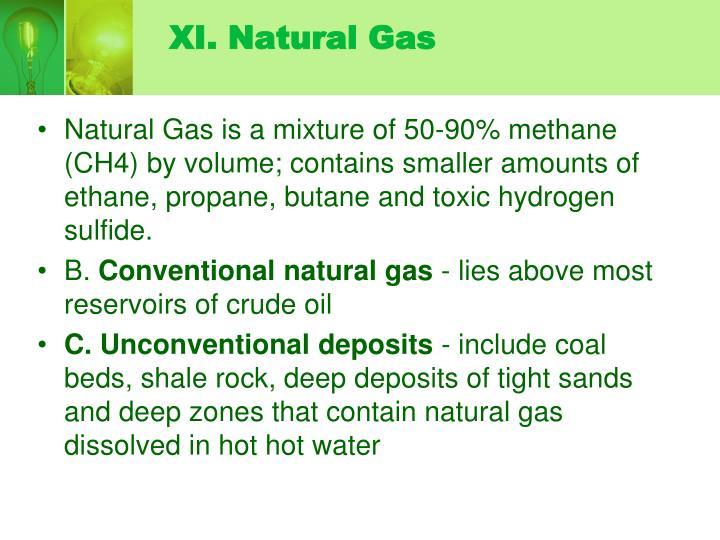 XI. Natural Gas