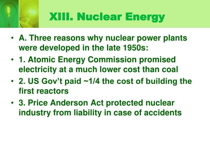 XIII. Nuclear Energy