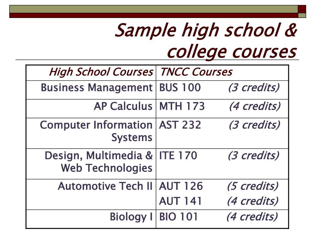Sample high school &