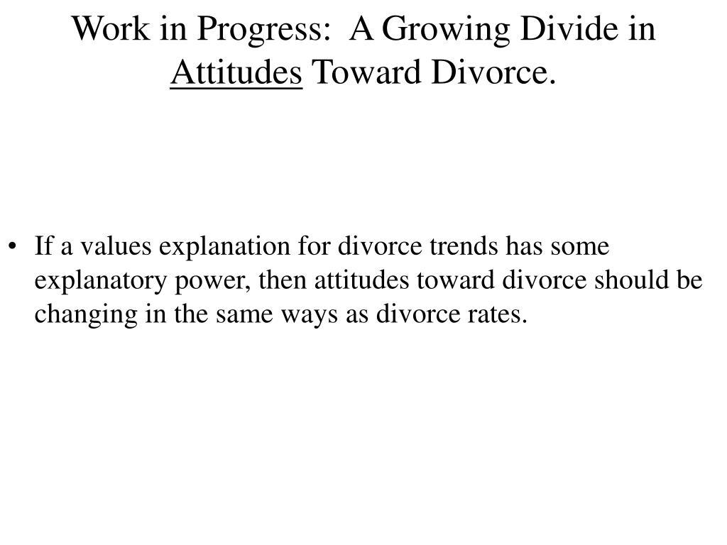 Work in Progress:  A Growing Divide in