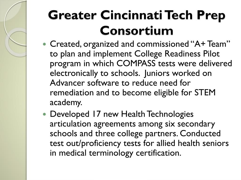 Greater Cincinnati Tech Prep Consortium