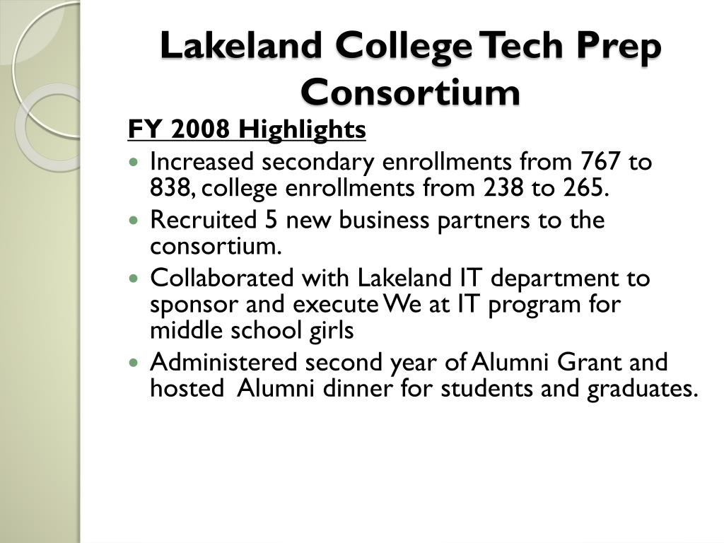Lakeland College Tech Prep Consortium