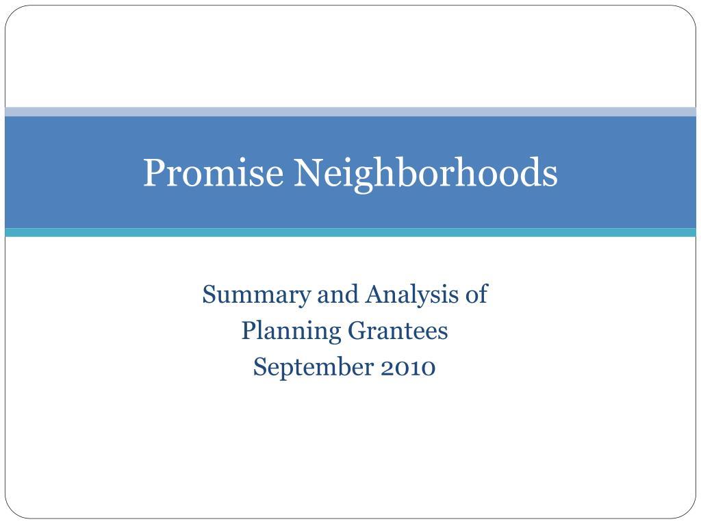 Promise Neighborhoods