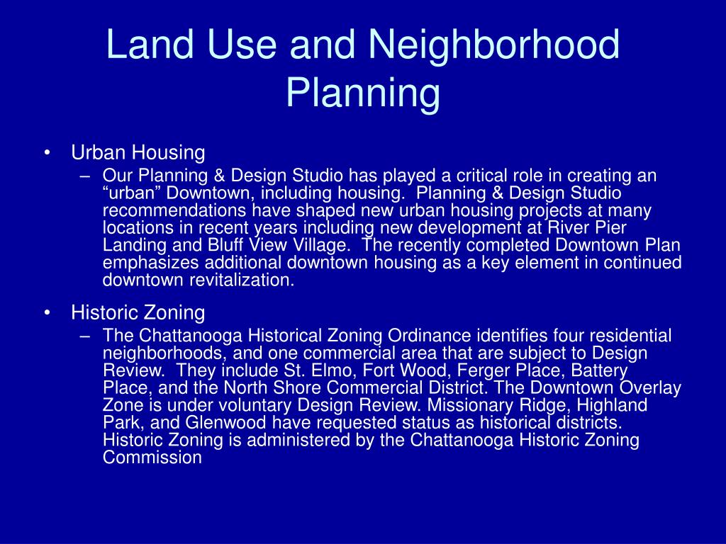 Land Use and Neighborhood Planning