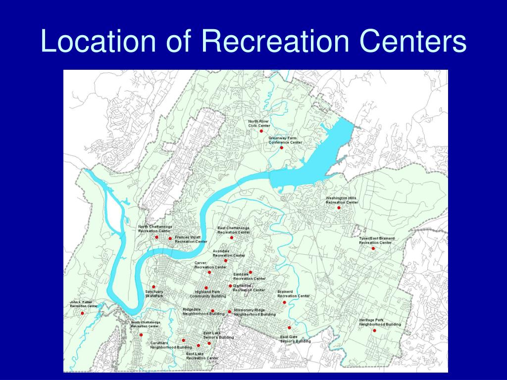 Location of Recreation Centers