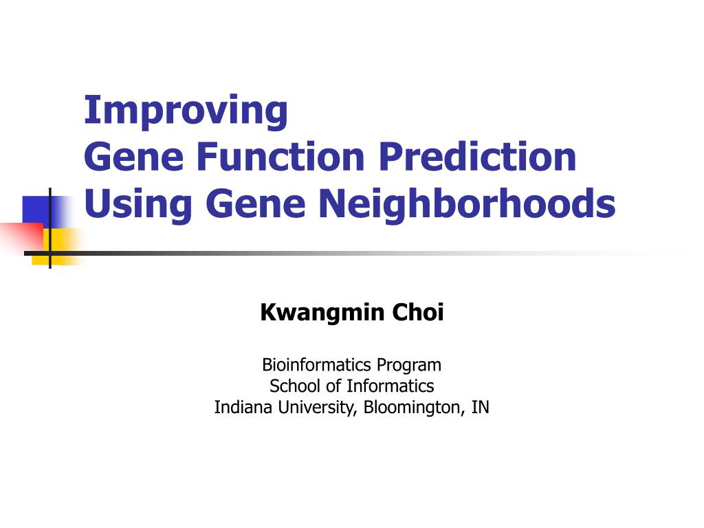 improving gene function prediction using gene neighborhoods