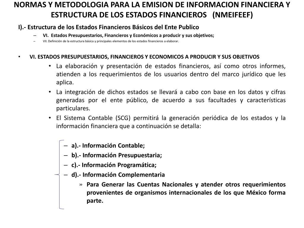 Ppt Normas Y Metodologia Para La Emision De Informacion