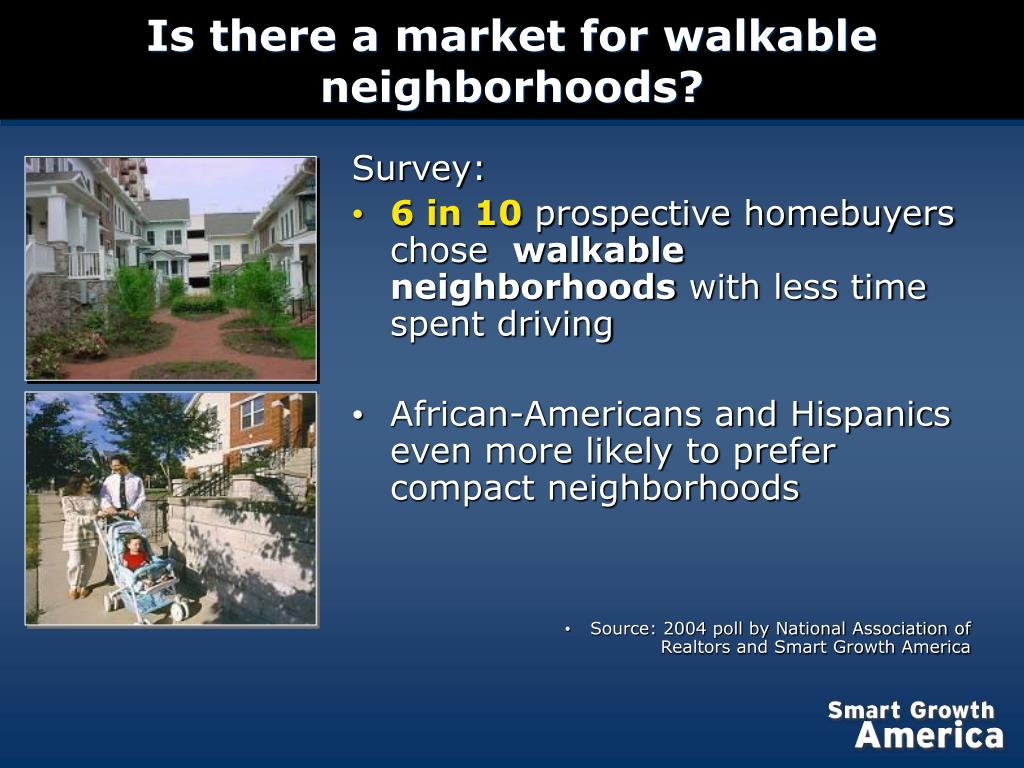 Is there a market for walkable neighborhoods?