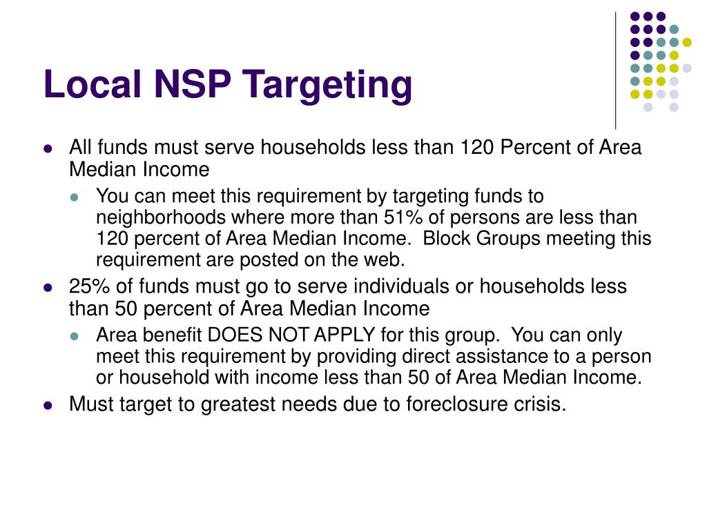 Local NSP Targeting