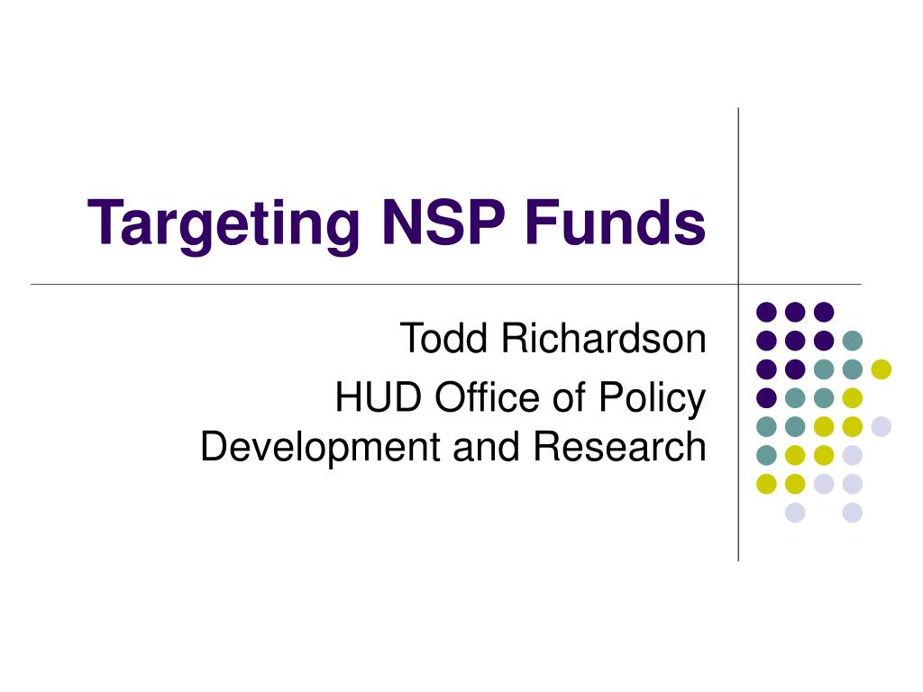targeting nsp funds l.