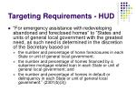 targeting requirements hud