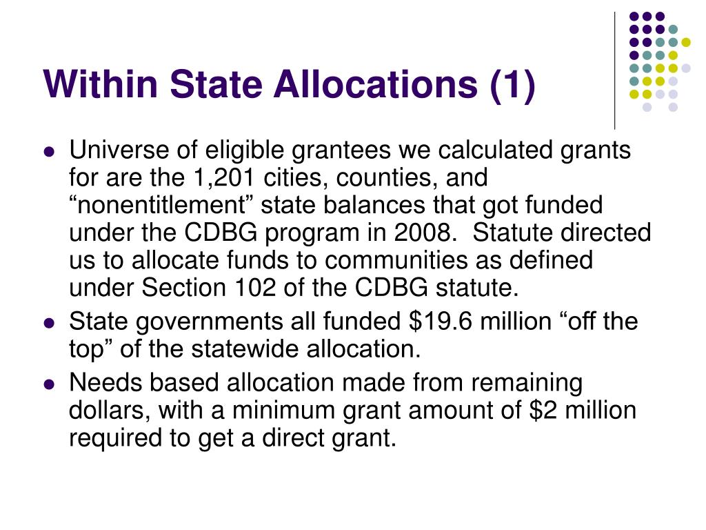 Within State Allocations (1)