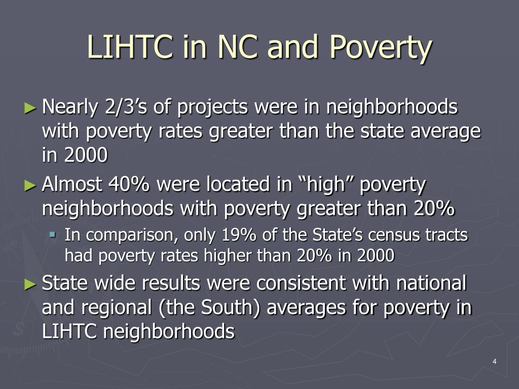 LIHTC in NC and Poverty