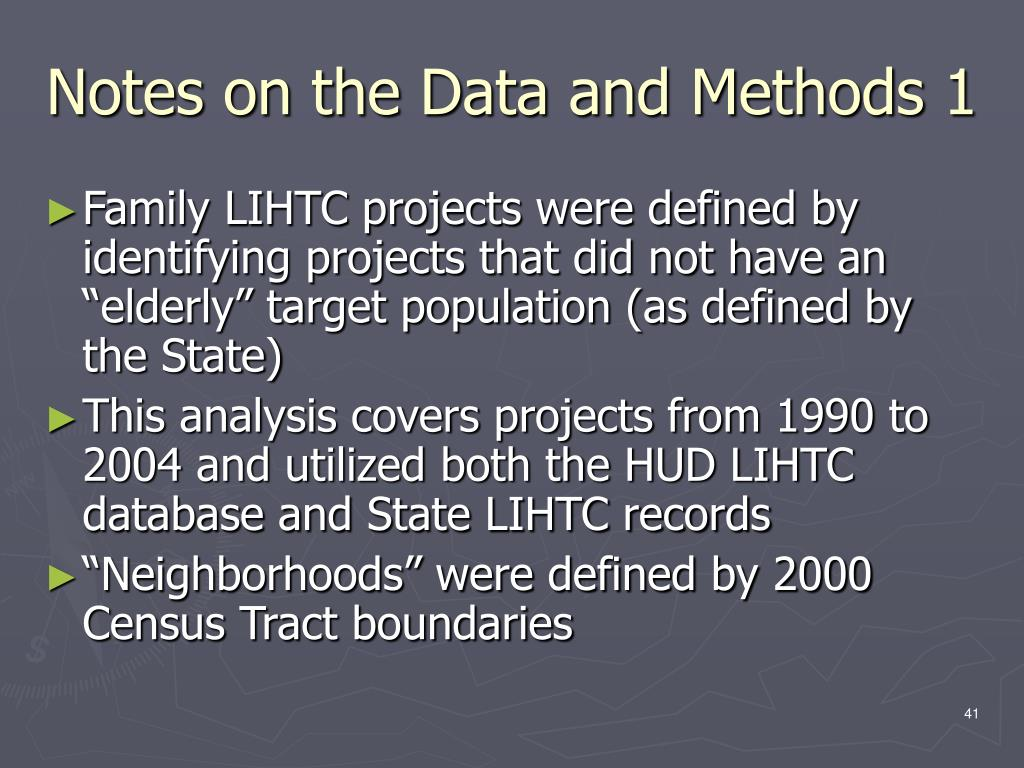 Notes on the Data and Methods 1