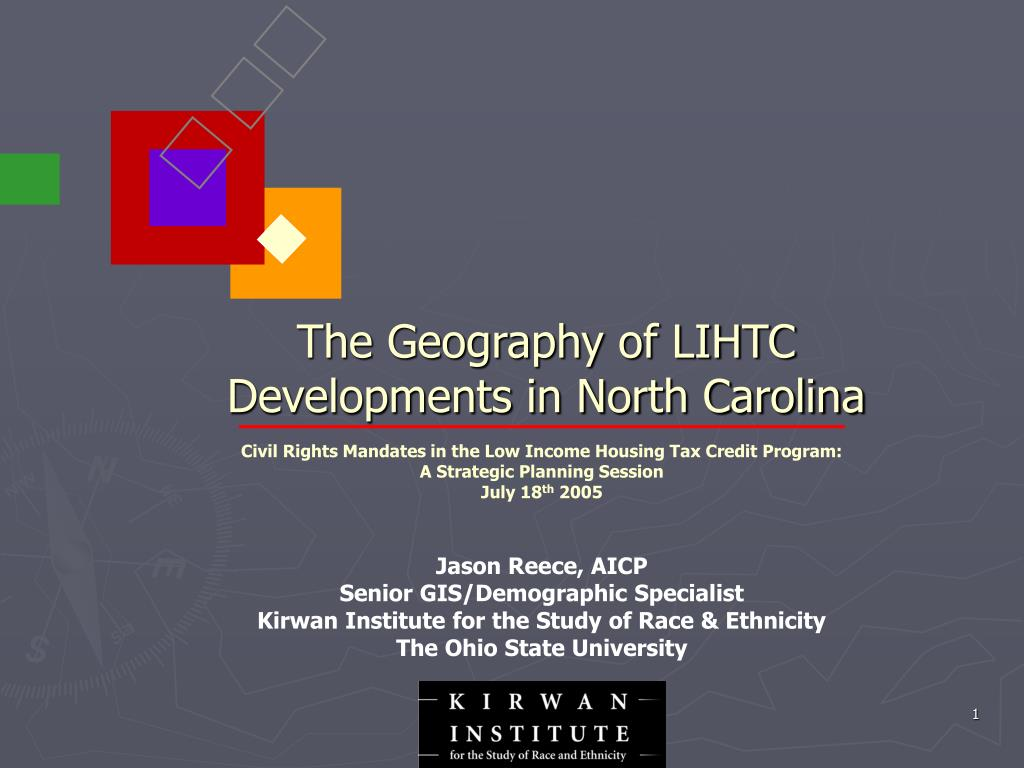 The Geography of LIHTC Developments in North Carolina