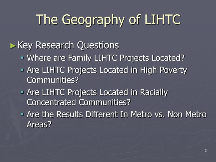 The geography of lihtc