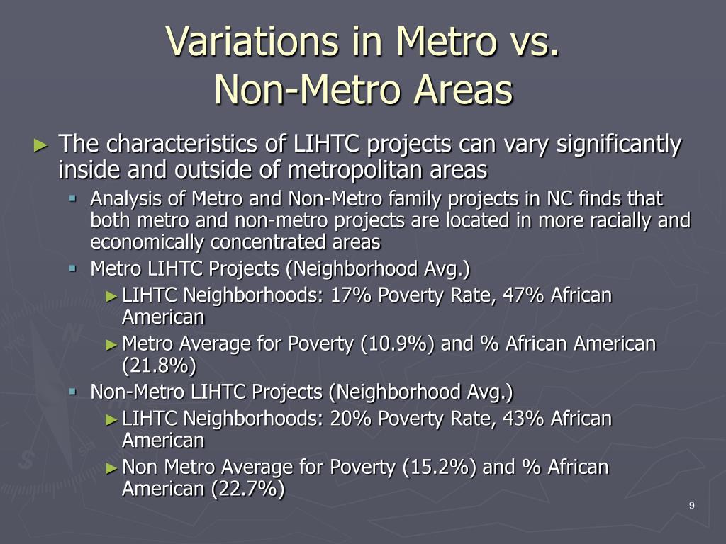 Variations in Metro vs.