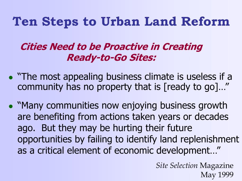 Cities Need to be Proactive in Creating Ready-to-Go Sites:
