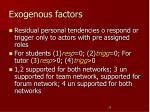 exogenous factors