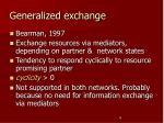 generalized exchange