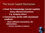 the social capital mechanism