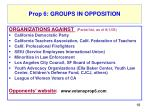 prop 6 groups in opposition