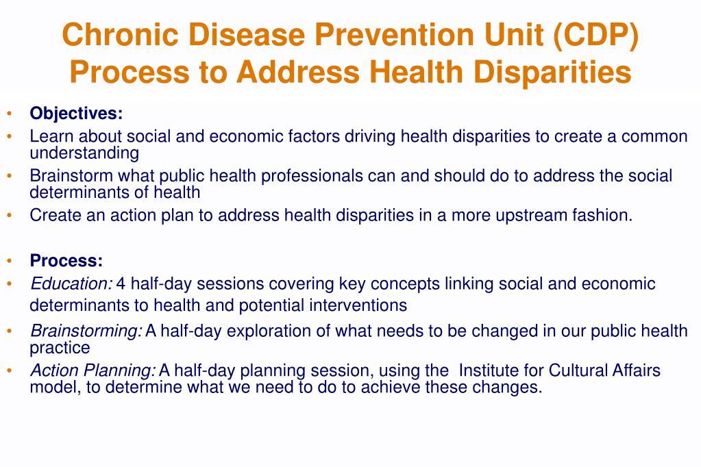 Chronic Disease Prevention Unit (CDP)