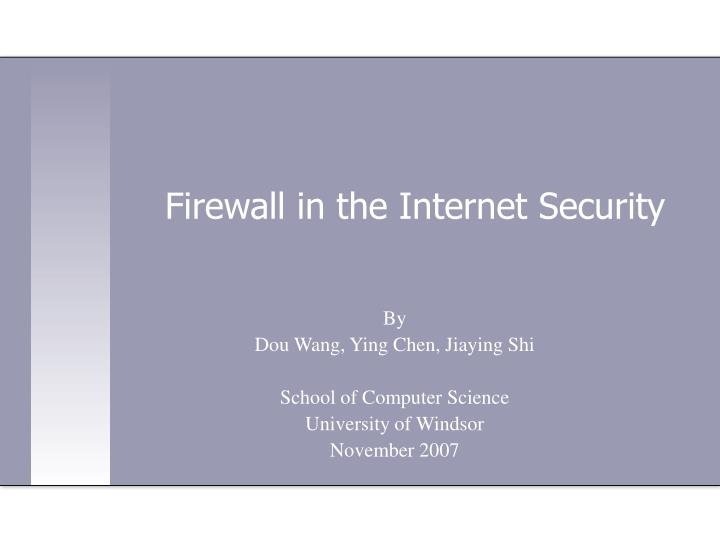 firewall in the internet security n.