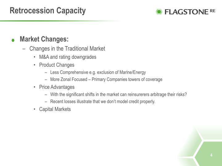 Retrocession Capacity