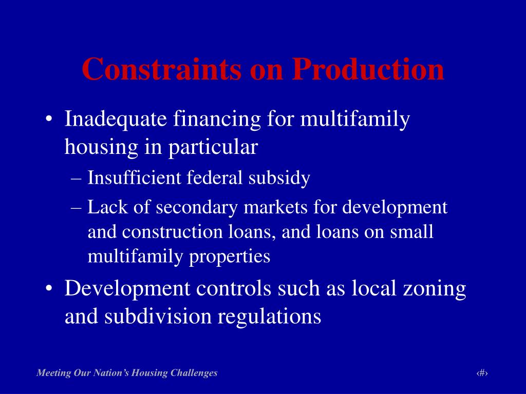 Constraints on Production