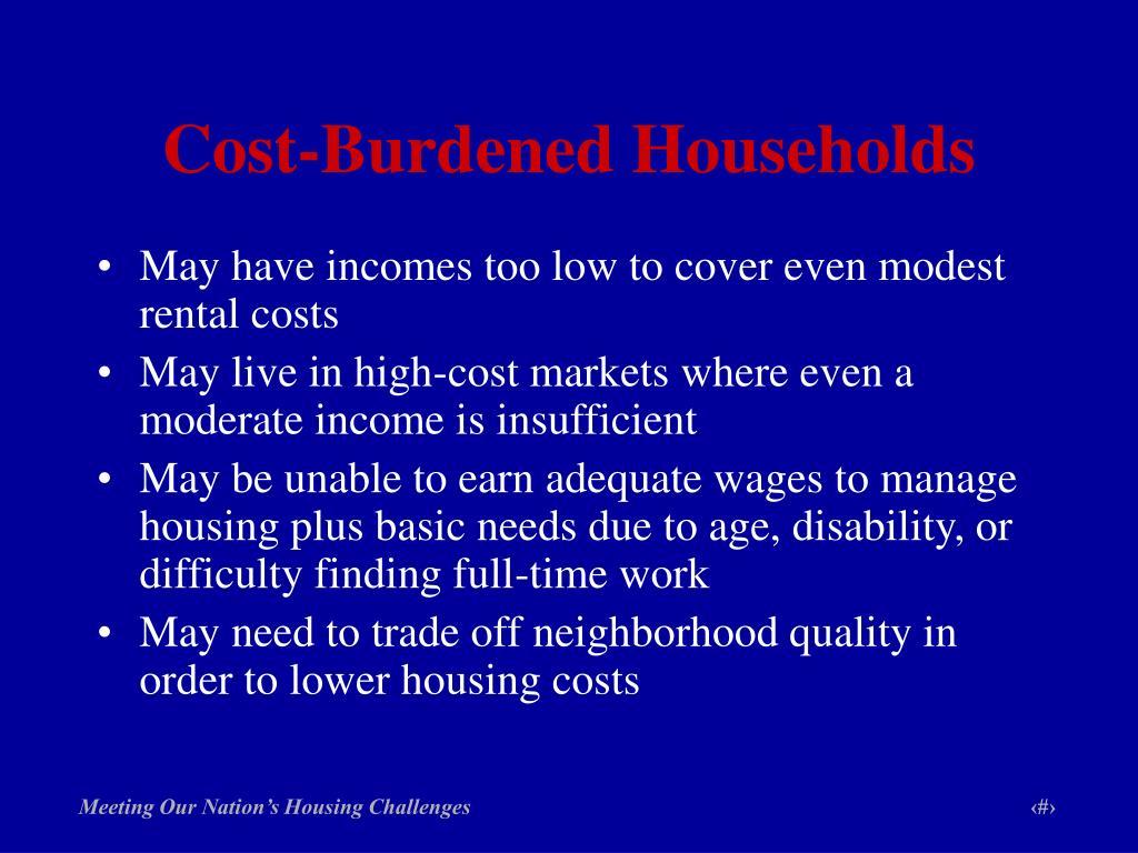 Cost-Burdened Households