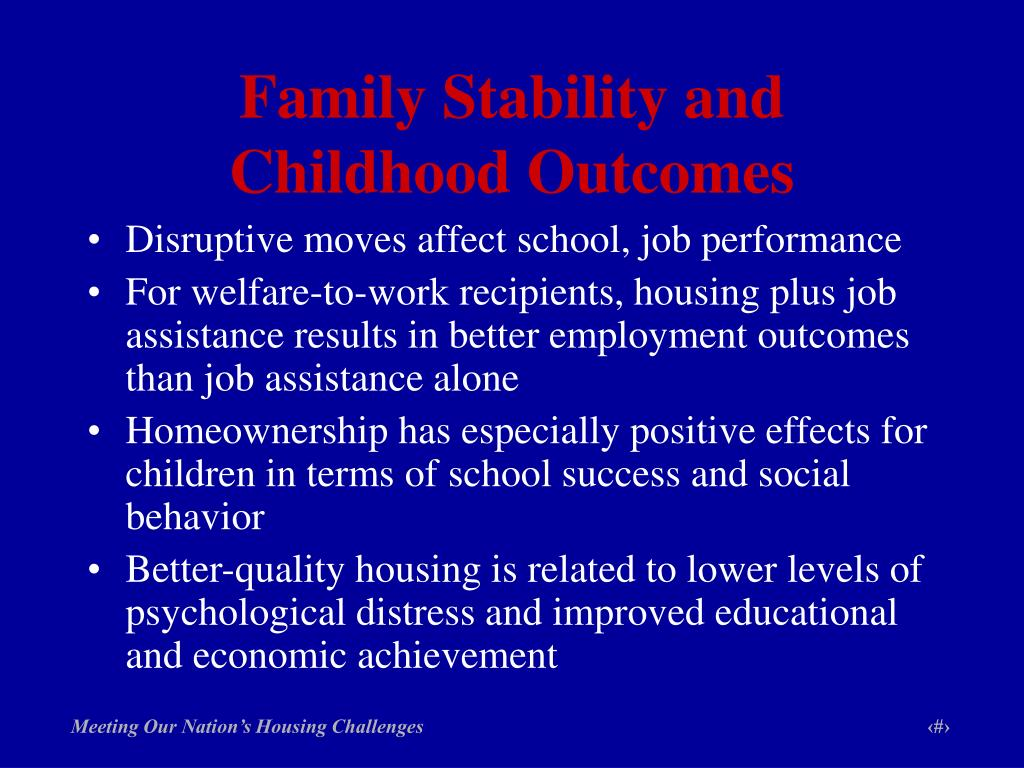 Family Stability and