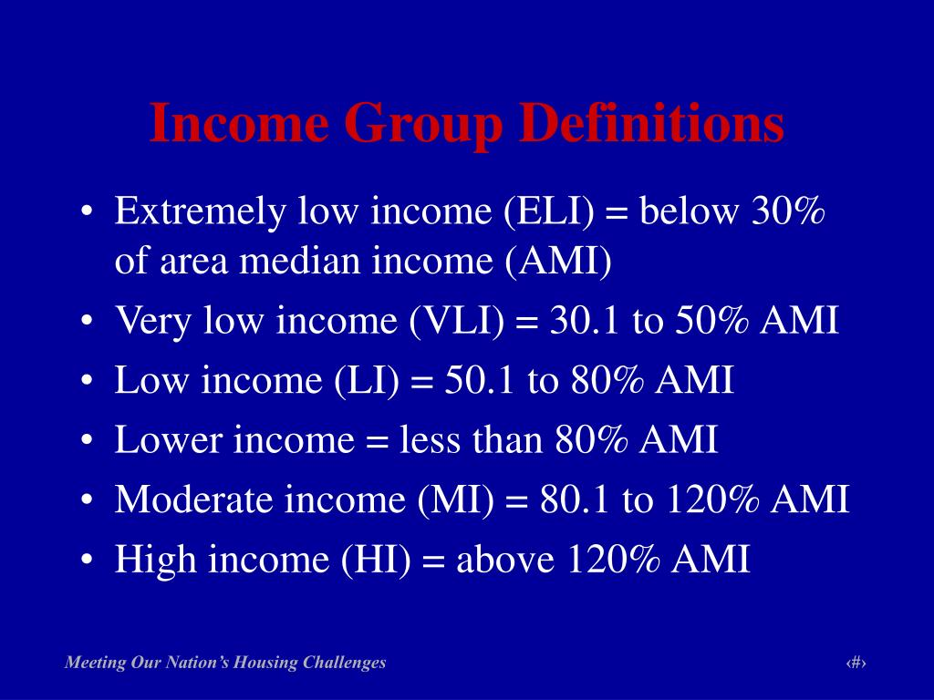 Income Group Definitions