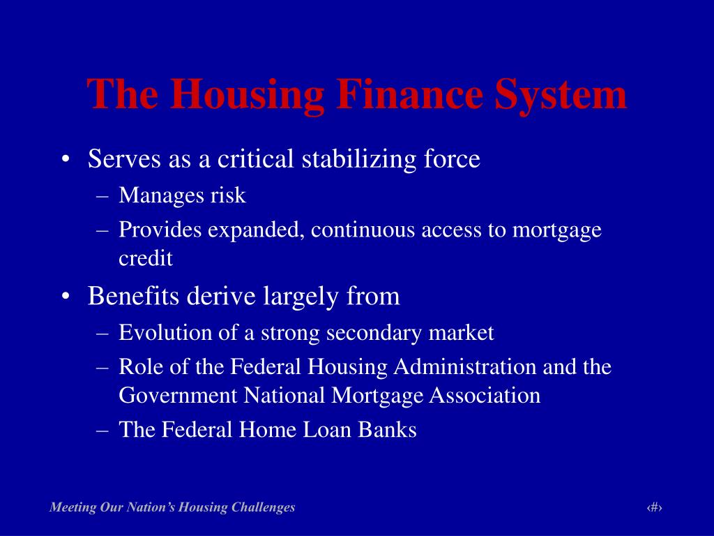 The Housing Finance System