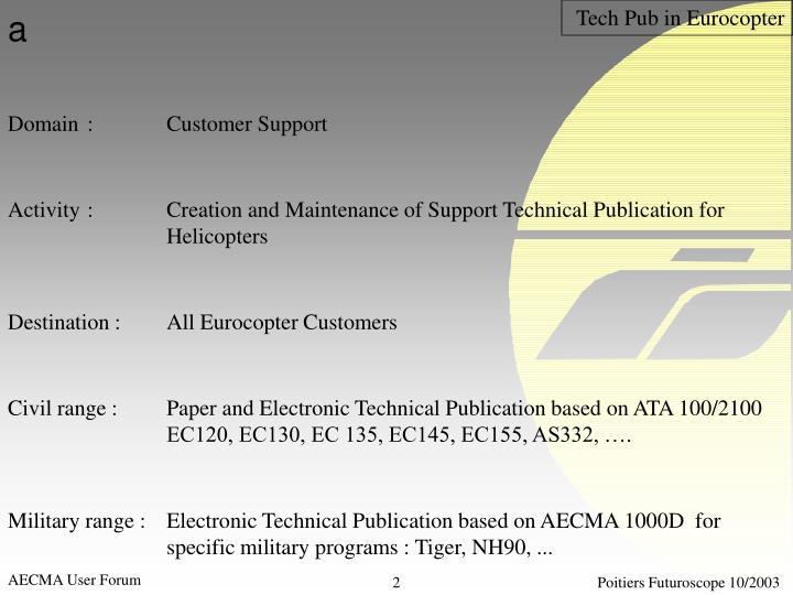 Tech Pub in Eurocopter