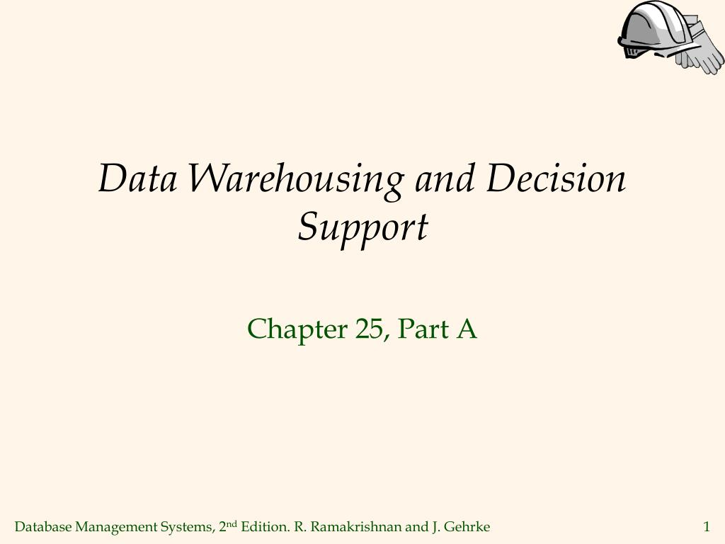 data warehousing and decision support l.