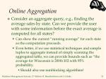 online aggregation