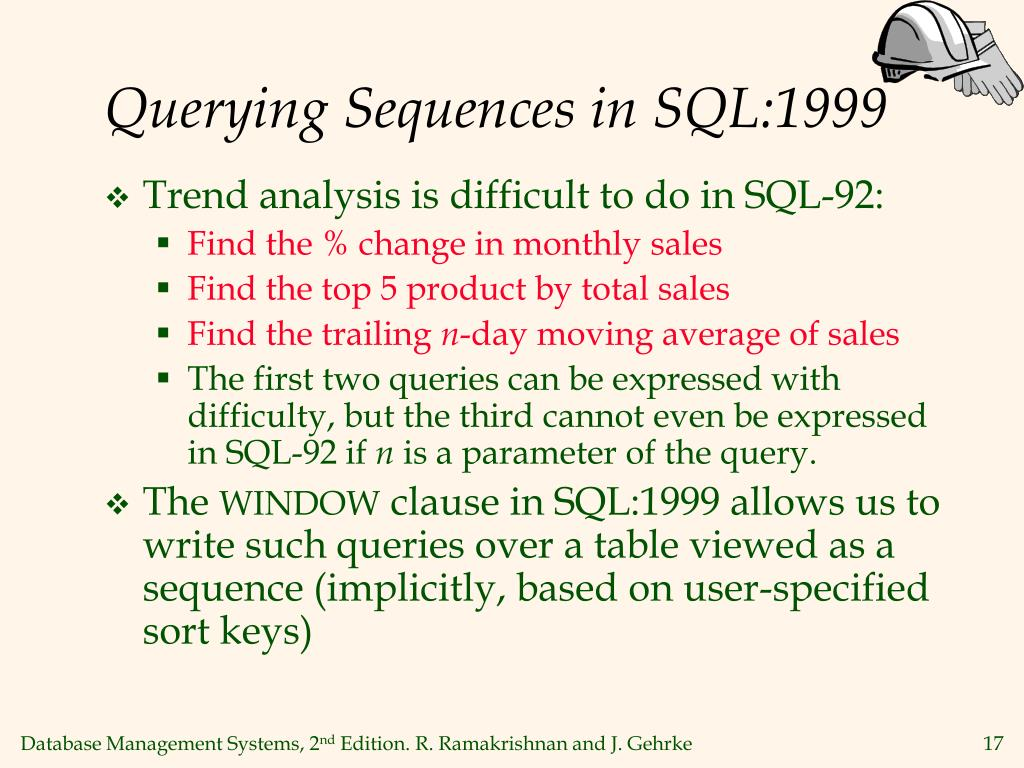 Querying Sequences in SQL:1999