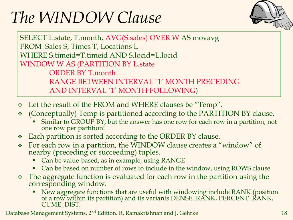 The WINDOW Clause