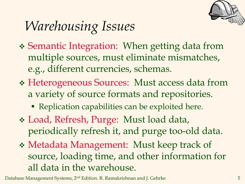 Warehousing Issues
